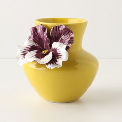Pretty Pansy Vase - Adding a bouquet of flowers to this vase is not necessary, as the pansy is beautiful by itself.