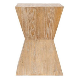 Safavieh Noatak Distressed Oak Side Table - Get back to the bare basics with this wooden table with a distressed oak finish.