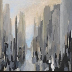 Artcom - Midtown by Gregory Lang - Midtown by Gregory Lang is a Stretched Canvas Print.