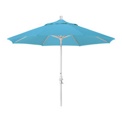 California Umbrella - 9 Foot Olefin Fabric Aluminum Crank Lift Collar Tilt Patio Umbrella, Sand Pole - California Umbrella, Inc. has been producing high quality patio umbrellas and frames for over 50-years. The California Umbrella trademark is immediately recognized for its standard in engineering and innovation among all brands in the United States. As a leader in the industry, they strive to provide you with products and service that will satisfy even the most demanding consumers.
