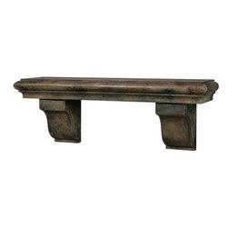 Uttermost - Musone Aged Shelf - Heavily burnished, rust taupe finish.