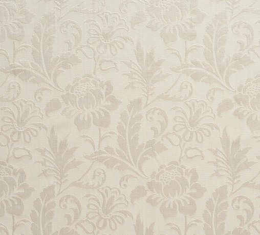 Ivory Two Toned Floral Metallic Sheen Upholstery Fabric By The Yard - This multipurpose fabric is great for residential upholstery, bedding and drapery. This material is woven for enhanced elegance. The sheen of this material varies depending on the light for a unique appearance.