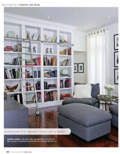 Modern  Modern library/living room