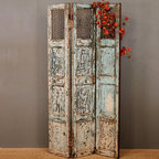 Vintage Three Panel Wall Divider -