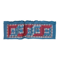 Patch Quilts - Red Log Cabin Curtain Valance 54 x 16 - - Beautiful patchwork Valance.Window Treatments for ensemble and Bedding items from Patch Magic  - Machine washable.Line or Flat dry only Patch Quilts - CVRLC