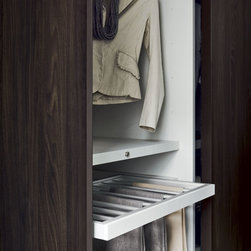 """Custom Made Closets with Sliding Doors - """"Dover"""" sliding doors and exclusive pant rack"""