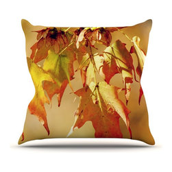 """Kess InHouse - Angie Turner """"Autumn Leaves"""" Vibrant Orange Throw Pillow (18"""" x 18"""") - Rest among the art you love. Transform your hang out room into a hip gallery, that's also comfortable. With this pillow you can create an environment that reflects your unique style. It's amazing what a throw pillow can do to complete a room. (Kess InHouse is not responsible for pillow fighting that may occur as the result of creative stimulation)."""