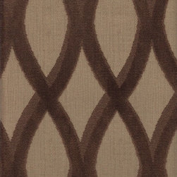 Thibaut - Thibaut Helix Epingle Velvet in Brown - 4.5 Yards - Yardage: 4.5 yards