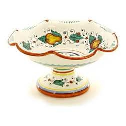 Artistica - Hand Made in Italy - Fruttina: Scalloped Footed Fruit Bowl - Fruttina Collection