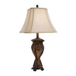 Minka Lavery - Minka Lavery 10822-0 Table Lamp In Rustic Walnut W/Bronze - Manufacturer: Minka Lavery