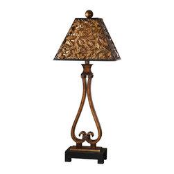 Uttermost - Antique Golden Bronze Single Light Table Lamp - Antique Golden Bronze Single Light Table Lamp