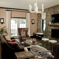 eclectic family room by Mantra