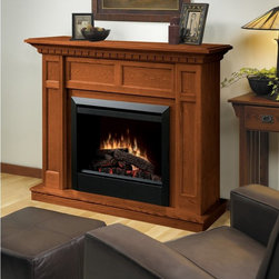 "Dimplex - Dimplex Caprice Electric Fireplace Multicolor - DFP4743O - Shop for Fire Places Wood Stoves and Hardware from Hayneedle.com! Features including an adjustable heater compact size and simple installation make the Dimplex Caprice Electric Fireplace a very practical choice. Its remarkable beauty makes it a stylish addition to any room. Finished in oak this electric fireplace comes with an on/off remote control for your convenience. The Caprice Electric Fireplace is a safe option for homes and apartments. Additional Features: 1-inch black trim adds a modern touch Electraflame technology for unmatched realism Green choice: no carbon monoxide or emissions The Dimplex Advantage Incredible realismExclusive patented 3-D flame technology Instant ambianceWith realistic leading-edge flame technology provides instant ambiance and the romance of a wood fire. Instant heatFan forced heat quietly provides over 5 000 BTU/hr of instant soothing warmth. Optional heatOperates with or without heat for year-round comfort at the push of a button. No venting requiredThis electric fireplace can be installed anywhere including below grade and inside walls. Safe for kids and petsRemains safe to touch whether heater is operating or off. Just plug it inSimply plug into any standard household electrical (120V) outlet switch on and enjoy. No moisture problemsSafe electric operation does not contribute to the concerns that come with some unvented gas products. Does not contribute to indoor moisture mold or ventilation problems. About DimplexDimplex North America Limited is the world leader in electric heating offering a wide range of residential commercial and industrial products. The company's commitment to innovation has fostered outstanding product development and design excellence. Recent innovations include the patented electric flame technology - the company made history in the fireplace industry when it developed and produced the first electric fireplace with a truly realistic ""wood burning"" flame effect in 1995. The company has since been granted 87 patents covering various areas of electric flame technology and 37 more are pending."