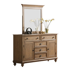 Riverside Furniture - Riverside Furniture Coventry Dresser in Driftwood - Riverside Furniture - Dressers - 3246132462KIT - Riverside's products are designed and constructed for use in the home and are generally not intended for rental, commercial, institutional or other applications not considered to be household usage.