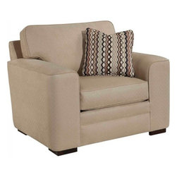 Broyhill Preston Contemporary Style Upholstered Chair - Arm Type-Track Arm
