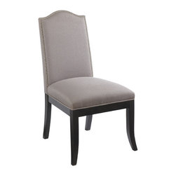 """Sunpan Modern - Roderigo Parsons Chair (Set of 2) - Spanish styling and silver nail head trim make this dining chair both elegant and contemporary. Sits exceptionally well. Features: -Material: Fabric.-Frame: Solid wood.-Finish: Espresso.-Please note that although every attempt has been made to ensure accuracy, all dimensions are approximate and colors may vary.-Please note that the leg color on Sunpan dining chairs does not always match the dining table color.-Distressed: No.-Upholstered Seat: Yes .-Upholstered Back: Yes .Dimensions: -Seat height: 18"""".-Overall Product Weight: 41.8 lbs."""