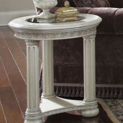 AICO Furniture - Chair Side Table - N53222-03 - This Price Includes: