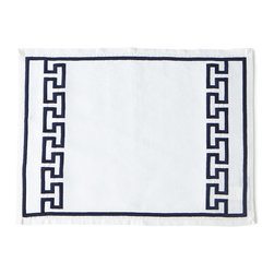 Jonathan Adler - Mykonos Navy Satin-Stitch Napkin - NAVY - Jonathan AdlerMykonos Navy Satin-Stitch NapkinDesigner About Jonathan Adler:Potter designer and author Jonathan Adler launched his first ceramics collection in 1994. His design philosophy: create a foundation of timelessly chic furniture and accessorize with abandon. With his roots still firmly in pottery he has expanded to become a complete lifestyle brand offering furniture lighting decorative objects fashion accessories and more. He is dedicated to bringing style craft and joy to life.