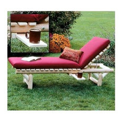 """Rustic Cedar - Natural Cedar Lounge Chair - Our popular Natural Cedar Lounge Chair is built to last from moisture & decay resistant natural Cedar wood and will deliver season after season of outdoor use.  On your deck or by the pool, this classic lounge chair offers comfort with support. * Our popular Natural Cedar Lounge Chair is built to last from moisture & decay resistant natural Cedar wood and will deliver season after season of outdoor use.. On your deck or by the pool, this classic lounge chair offers comfort with support.. 74"""" x 24"""" x 14"""". Weight: 48lbs."""