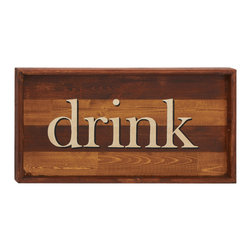 Guiding Easily Wood Drink Wall Sign - Description: