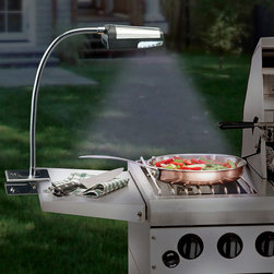 Flexible Cordless Stainless Steel Grill Light - Sun going down? No problem! Just attach this clip-on grill light, and you can be sure you get just the right grill marks on your food.