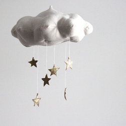 Gold Star Cloud Mobile by Baby Jives Co. - This is one of the most adorable mobiles out there. I'd use it in a nursery or above a special reading corner or window seat.