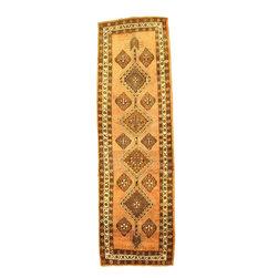 eSaleRugs - 3' 7 x 12' 11 Meshkin Persian Runner Rug - SKU: 110899159 - Hand Knotted Meshkin rug. Made of 100% Wool. 40-50 Years(Semi Antique).