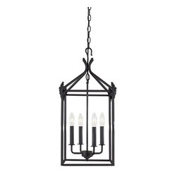 World Imports Lighting 61404-42 Hastings 4-light Lantern, Rust - I used this lantern in my last home's breakfast nook, and it gave it some rustic charm. It comes in different sizes and is a great value for the price.