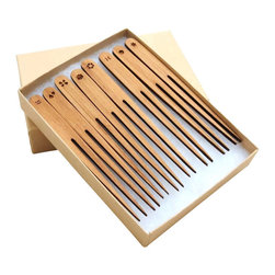 Dimlim - Tapas Forks - Non-disposable Bamboo Tapas and Appetizer Forks Set of 8. For Hors D'Oeuvres, small plates and appetizers.