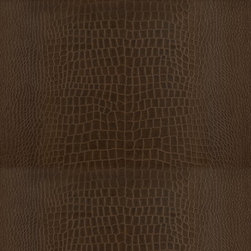 Yacare Crocodile Mahogany Wallcovering - I mean really, is there anything more rich or luxe than crocodile textured wall? It's ridiculous. And I love it.