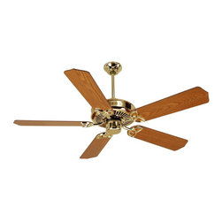 Craftmade - CXL 52 in. Fan in Polished Brass w Standard B - Fan Specs:. Heavy-Duty, 3 Speed Reversible Motor. 2 in. and 6 in. Downrods (Included). Meets Energy Star Energy Efficiency Standards. Number of Fan Blades: 5. Blade Pitch: 14°. Motor Size: 188 x 15mm. High Speed Amps: 0.7. RPM (Hi-Med-Low): 210-120-78. Airflow (Cubic FT/MIN): 6503. Electricity Use: 76 Watts. Airflow Efficiency (Cubic FT/Min/Watt): 86. Blade Specs:. Blade Length: 52 in.