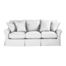 Baldwin Sofa Slipcover - The Baldwin Sofa is so plush and comfortable! The pillows and cushions are the perfect shape.