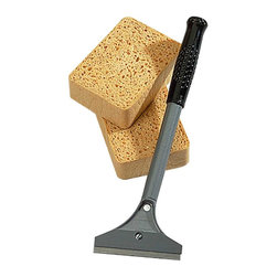 Renovators Supply - Wallpaper Tools Wallpaper Removal Tool Kit - Wallpaper Removal Tools. This kit includes a package of two cellulose sponges, wallpaper stripper and a package of two blades.