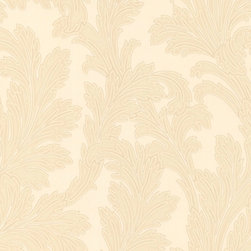 Gold Creme Leafed Wallpaper - Give your walls a traditional look with a modern flare with wallpaper from the Regent Collection by Brewster.