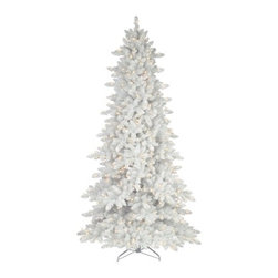 Flocked White Fir Deluxe Christmas Tree - A SNOWY VISION FOR THE HOLIDAYS