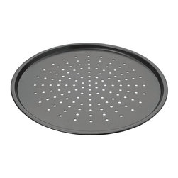 Chicago Metallic - Chicago Metallic Nonstick Perforated Pizza Crisper - Uncle Vito look out! Now you can turn out the perfect pizza with this perforated pie sheet. No sticky dough, just perfect crispy crust every time. And you don't have to be Italian!