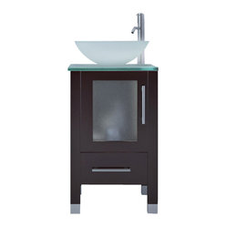 Soft Focus Small Vessel Sink Modern Contemporary Bathroom Vanity Cabinet