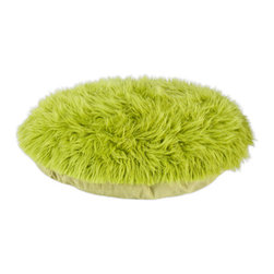 "Shag Fur Green 36"" Round Pet Bed - Shag Fur Green 36"" Round Pet Bed"