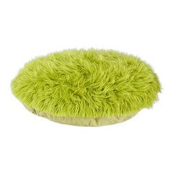 "Shag Fur Green 36"" Round Pet Bed - Shag Fur Green 36"" Round Pet Bed"