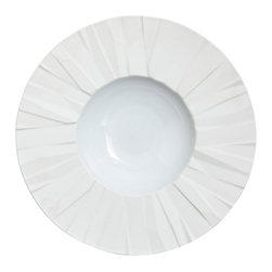 Vista Alegre - Matrix White Porcelain Soup Plate - Created by renowned designer Bartek Mejor, the Matrix collection is a functional, thoroughly modern line. Plates are built from a series of irregular surfaces, creating a unique, original design.