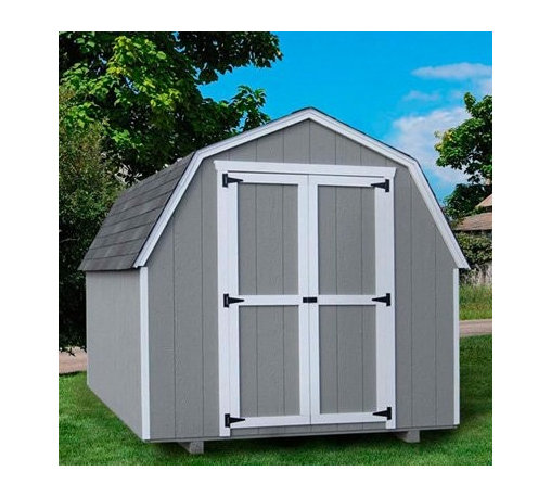 Little Cottage 12 x 16 ft. Value Gambrel Barn Precut Storage Shed - 4 ft. Barn - Additional Features Interior measures 15.4L x 9.4H feet Door measures 5W x 6H feet Double door for easy entry and exit Swivel door latch 4 ft. high sidewalls Features aluminum corner trim Includes all fasteners Roof design provides extra headroom Beautiful and charming, the Little Cottage 12 x 16 ft. Value Gambrel Barn Precut Shed Kit - 4 ft. Barn features a specially designed roof to allow for extra headroom and looks great in any backyard. Ideal for storing equipment, this shed comes precut and ready to assemble. The trim and siding are 98% primed, while the Smartside siding also includes a 5 year 50 warranty. The double door makes moving equipment in and out of the shed easy, while the swivel door latch is easy to maneuver. About The Little Cottage CompanyNestled in the heart of Ohio's Amish country, The Little Cottage Company resides in a quaint, slow-paced setting where old-fashioned craftsmanship and attention to detail have never gone out of style. Their experienced carpenters and skilled designers take great pride in creating top-quality, pre-built models and Do-It-Yourself kits of playhouses, storage sheds, and more.