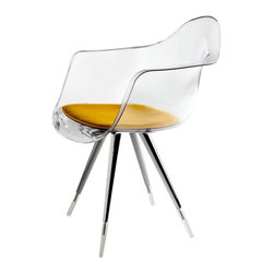 Kubikoff - Angel Armchair, Clear, Yellow - Angel Armchair