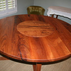 WR Woodworking - Mesquite Table - Custom Mesquite table with integrated lazy Susan.wrwoodworking.com