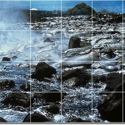 Picture-Tiles, LLC - Volcanoes Photo Ceramic Tile Mural 8 - * MURAL SIZE: 48x72 inch tile mural using (24) 12x12 ceramic tiles-satin finish.
