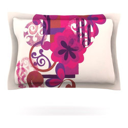"Kess InHouse - Louise Machado ""Lilac"" Pillow Sham (Woven, 40"" x 20"") - Pairing your already chic duvet cover with playful pillow shams is the perfect way to tie your bedroom together. There are endless possibilities to feed your artistic palette with these imaginative pillow shams. It will looks so elegant you won't want ruin the masterpiece you have created when you go to bed. Not only are these pillow shams nice to look at they are also made from a high quality cotton blend. They are so soft that they will elevate your sleep up to level that is beyond Cloud 9. We always print our goods with the highest quality printing process in order to maintain the integrity of the art that you are adeptly displaying. This means that you won't have to worry about your art fading or your sham loosing it's freshness."