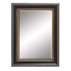 Benzara - Wood Beveled Mirror with Embossed Leaf Pattern - Ornate and opulent, this Wood Beveled Mirror flaunts a charming design which revamps interiors. Set in a rectangular wooden frame, this mirror has a lightweight design which makes installation easy and convenient. An embossed leaf pattern adorns the frame and gives this mirror a classic, attractive appeal. Beveled design and multicolored wash detailing augments the visual appeal and gives this mirror an exotic, elegant look. This mirror can be added to any modern or traditional setup and makes for a grand decor accent. You can place it in any room, particularly in your bedroom for easy accessibility. This mirror is easily cleaned with a cloth and enables you to groom yourself by standing in front of it. The wood also imparts durability to the design and promises lasting, hassle-free usage.