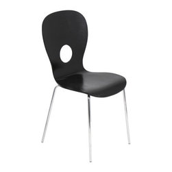 Lumisource - Omega Chair Black - This chair offers a unique style for your home or office. It has a bigger back support for more comfort with less ache. The front of the chair is curved so you can sit longer and enjoy yourself with friends, family, and co-workers.