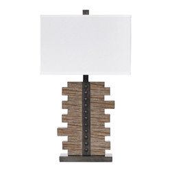 "Signature Design by Ashley - 27"" Set of 2 Faux Wood and Pewter Table Lamp - Standing out from most of the accessories that accent your home with style and beauty, lamps serve a purpose along side adding to the look and feel of your home's decor. This diverse Lamp Collection contains lamps that illuminate and accent your home while providing a unique flair that enriches the look of any home environment. Each lamp features a unique vision of artistic beauty that perfectly accessorizes with any of the furniture within your home. Cast your home in the warm glow of a stylish lamp that is sure to enhance the beauty of your home. The Lamps - Vintage Casual Sakina Poly Table Lamp features:"