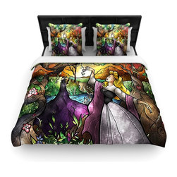 """Kess InHouse - Mandie Manzano """"I Know You"""" Fairytale Forest Fleece Duvet Cover (King, 104"""" x 88 - You can curate your bedroom and turn your down comforter, UP! You're about to dream and WAKE in color with this uber stylish focal point of your bedroom with this duvet cover! Crafted at the click of your mouse, this duvet cover is not only personal and inspiring but super soft. Created out of microfiber material that is delectable, our duvets are ultra comfortable and beyond soft. Get up on the right side of the bed, or the left, this duvet cover will look good from every angle."""