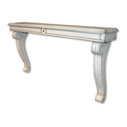 EuroLux Home - New Shelf White/Cream Painted Hardwood - Product Details